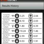 Speed Test History